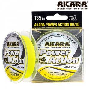 Шнур Akara Power Action X-4 Yellow 135 м