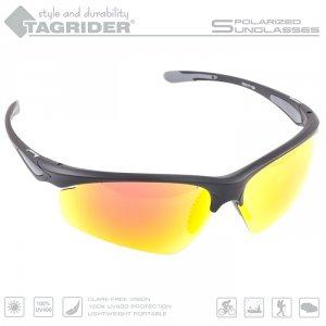 Очки поляризационные Tagrider в чехле N15-45 Gold Red Mirror