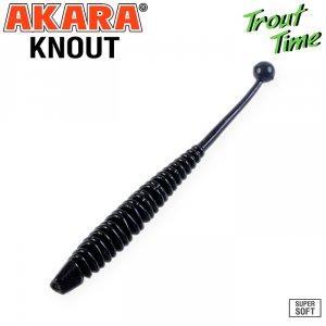 Силиконовая приманка Akara Trout Time KNOUT 2,5 Garlic (10 шт)