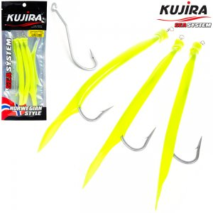 Снасточка морская Kujira Gummi Makk 10/0 Yellow (3 шт)